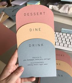 OBSESSED with these menus I designed! | Sablewood Paper Company | sablewoodpaper.com