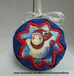 Handmade quilted ornaments https://www.etsy.com/shop/MrsClausOrnamentShop