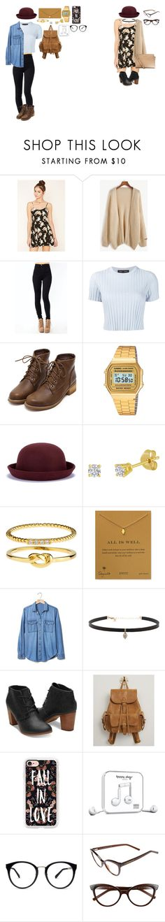 """meus looks"" by mayara-loca ❤ liked on Polyvore featuring Forever 21, Proenza Schouler, Casio, Accessorize, Dogeared, Gap, Carbon & Hyde, Urban Expressions, Casetify and Happy Plugs"