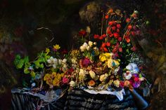 Hans Withoos - Still life of Dead Flowers, Stuffed Animals and past News - The Muses of Klimt 2014 med