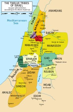 12 Tribes of Israel Map.svg