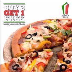 """[Piccola Stella D'Almanna - NEW PROMO]  Buy 2 Large Pizza Get 1 Large Margherita Pizza FREE  Sudah bukan zaman nya lagi kalau bilang Pizza itu mahal. Di Piccola Stella d'Almanna kamu bisa loh dapetin Margherita Pizza ukuran besar GRATIS setelah kamu memesan 2 Pizza ukuran besar. Pesta pizza kini semakin hemat loh!   Setiap Hari (termasuk libur)  Min Pemesanan 2 Pizza Ukuran Besar  Category: Food  Location: Dermaga Sukajadi  CARA NIKMATI PROMO:  Install GoDeal di Appstore & Playstore  Cari merchant  hangrypoll""""  Klik promo utk ambil kuponnya  Tunjukin kuponnya dan nikmati diskon  Free  Gampang  Instant  . ℹ Jangan lupa isi Review setelah kupon di-scan. Anda dapat Cashback (selain diskon) tambahan dihitung dari nilai transaksi netto (setelah diskon sebelum pajak & svc chg.)   Share deal ini ke teman-teman anda jgn lupa berbagi foto anda pake tag #weLoveGodeal apabila sdh pake kupon GoDeal memiliki rasa kebersamaan dan membantu Batam Local Merchant! Vegetable Pizza, App, Vegetables, Instagram Posts, Free, Apps, Vegetable Recipes, Veggies"""