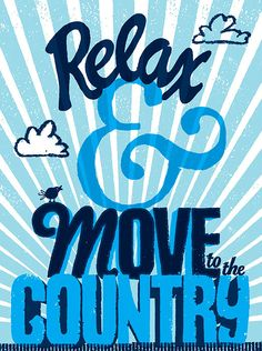 Typographical Fun Statements. Here's one argument for moving to the country!
