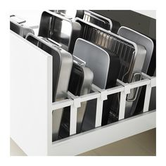 MAXIMERA Drawer, high - white, cm - IKEA yes good idea smart. Ikea White Drawers, Ikea Kitchen Drawers, Kitchen Cupboard, Ikea Metod Kitchen, Ikea Kitchen Cabinets, Kitchen Dishes, Kitchen Utensils, Ikea Organisation, Ikea Kitchen Drawer Organization