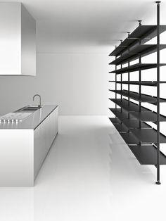 #kitchen design #interiors #minimalism #white #simple - Cucine Boffi http://designapplause.com/2013/a-conversation-with-boffi-ceo-roberto-gavazzi/35232/