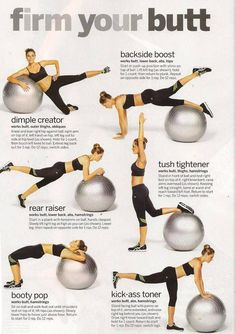 Stability ball I just love the stability ball it doesn't look like much of a work out but give it a try and then you'll see #fitness #weightloss