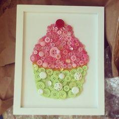 Cupcake Button Art by @Dot Falcon