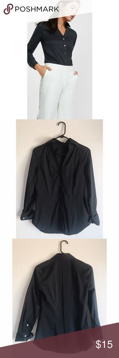 Express Studio Black Button Up Shirt Gently loved, excellent condition! Express Tops Button Down Shirts