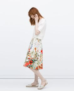 PRINTED SKIRT WITH PLEATS-View all-Skirts-WOMAN | ZARA United States