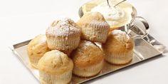 Mini white choc muffins