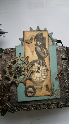 detail from my finished Steampunk mini album | Flickr - Photo Sharing!