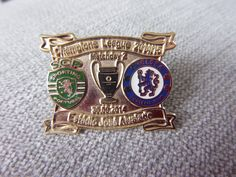 Sporting #lisbon v chelsea #2014/2015 champions #league match day gold badge fc,  View more on the LINK: 	http://www.zeppy.io/product/gb/2/222288808923/