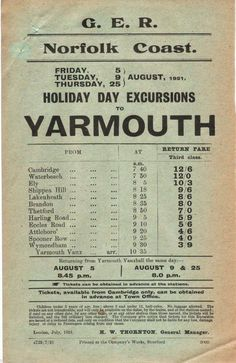A trip to Yarmouth. British Holidays, Suffolk England, Old Train Station, Norwich Norfolk, Norfolk Coast, Great Yarmouth, British Seaside, Holiday Day, Seaside Resort