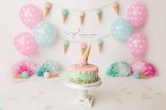 ice cream--change colors to make it a boy set - Megan Allison - ice cream--change colors to make it a boy set ice cream--change colors to make it a boy set - Boys 1st Birthday Party Ideas, 1st Birthday Photoshoot, First Birthday Pictures, Baby Girl First Birthday, Baby Ice Cream, Ice Cream Theme, Ice Cream Party, Ice Cream Birthday Cake, 1st Birthday Cake Smash