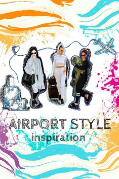 Airport Style Inspiration. Best trendy outfits for log haul flights. #fashion #travel #airportstyle