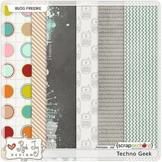 Techno Geek paper pack freebie from Red Ivy Design
