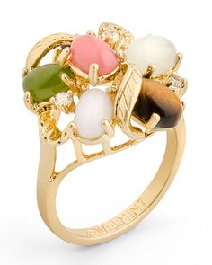 looks like a bouquet for your finger...The Gem Bouquet Ring by JewelMint.com, $29.99