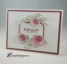 Windy's Wonderful Creations: FF0015 Frosted In Merlot, Stampin' Up!, First Frost, Frosted Bouquet dies