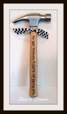 Personalized Hammer Fathers Day Gift Gift for by timestotreasure