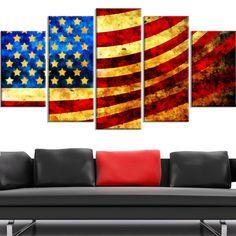<li>Title: God Bless America Flag</li><li>Product type: Gallery-wrapped Canvas</li><li>Style: Contemporary</li>