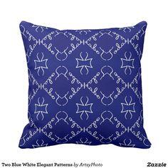 Two Blue White Elegant Patterns