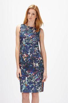 Floral Print Lace Sheath Dress