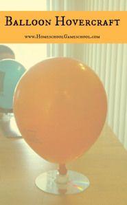 Balloon Hovercraft. ..Jordan's science experiment.