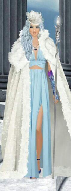 "Covet Fashion Game ""Cloud Fortress"" Challenge ♕DiamondB! Styled & Pinned♕ #covetfashion"