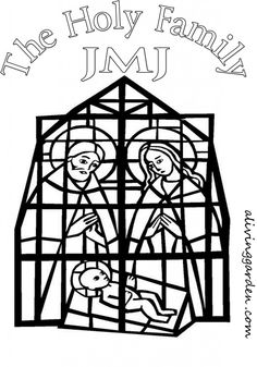 Holy Family- February is dedicated to the Holy Family coloring page