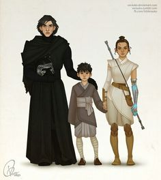 Kylo, Rey and their son
