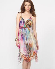 Abstract Chiffon Cocktail Dress