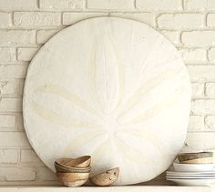 Styrofoam Craft Idea- A Giant Sand Dollar Inspired by PB . . . Lovin' this one; definitely trying to make one.