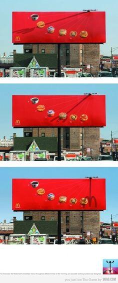 McDonald's #billboard #ads #creative #smart #clever #advertisements #brilliant #idea #advertising
