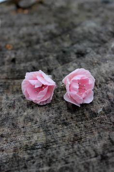 Sakura stud earrings delicate silver 925 floral by Jewelrylimanska