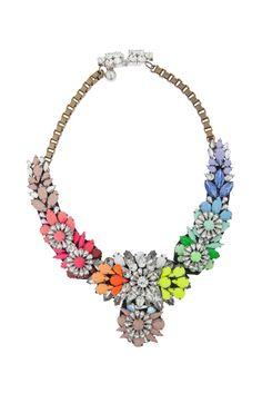 Shourouk Apolonia Rainbow Swarovksi crystal and PVC necklace Fashion Jewelry Necklaces, Women Jewelry, Fashion Jewellery, Bubble Necklaces, Crystal Choker, Best Jewelry Stores, Schmuck Design, Jewelry Branding, Statement Jewelry