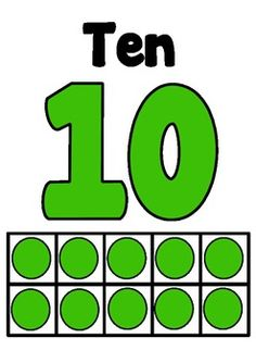Numbers Posters 1-20 with number and tens frame