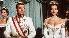 "Romy Schneider as Sissi and Karlheinz Böhm as Franz Joseph in ""Sissi: the fateful years of an empress"" (1957)"