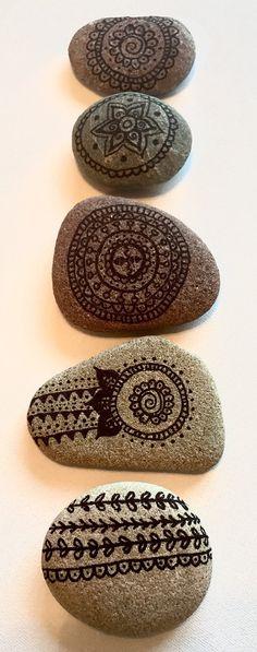 Hand painted stoneswedding favours personalised by AmyRoseBudd