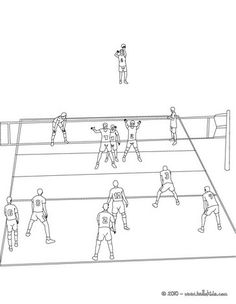 Volleyball Court Coloring Page More Sports Pages On Hellokids