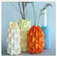 Tall Origami Vase Empty