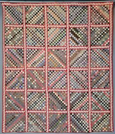 Postage Stamp Quilt Elsie Barnes Patterson, Morley, ca. 1880s Courtesy of the Town & Village of Canton Historical Collection. This full-sized quilt top is made of 7,834 one-inch square pieces of fabric. The colors were carefully selected for an overall optical effect,