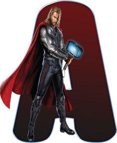 Alfabeto Decorativo: Alfabeto - Thor 1 - PNG - Letras - Maiúsculas - DO...