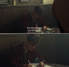 "anamorphosis-and-isolate: "" ― Kill Your Darlings (2013) Allen: And like all lovers and sad people, I am a poet. """