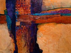 TUCSON 12054 mixed media desert abstract Carol Nelson Fine Art, painting by artist Carol Nelson