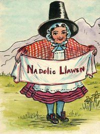 vintage Christmas card from Wales- Nadolig Llawen - Welsh Christmas Images Merry Christmas Everyone, Christmas Love, Merry Christmas In Welsh, Christmas Feeling, Christmas Images, Xmas, Welsh Lady, Welsh Words, Welsh Language