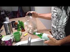 Easy Wine Bottle Cutter With Perfect Edges, How to Video DIY Recycling Ideas cutting Bottles - YouTube