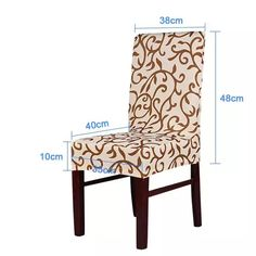 Online Shop Meijuner Flower Printing Removable Chair Cover Big Elastic Slipcover Modern Kitchen Seat Case Stretch Chair Cover For Banquet Dining Room Chair Covers, Dining Chair Slipcovers, Living Room Chairs, Dining Chairs, Cheap Chair Covers, Stretch Chair Covers, Furniture Covers, Diy Furniture, Chaise Diy