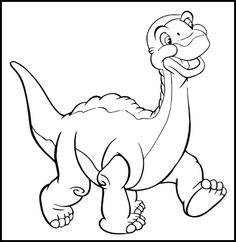 Land Before Time Characters Coloring Pages