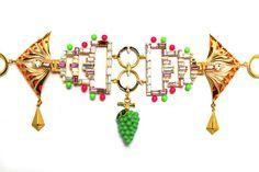 Manish Arora for Amrapali Tribal Pop Naro enamelled belt.
