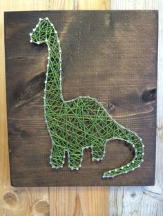 Dinosaur String Art String Art Dinosaur Decor Dino by UrbanHoot